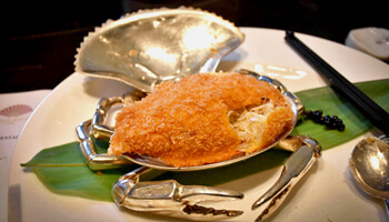 Fried stuffed crab from Mandarin Oriental Taipei