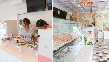 Business owner Hailey Kwon inside her business Dots Cafe