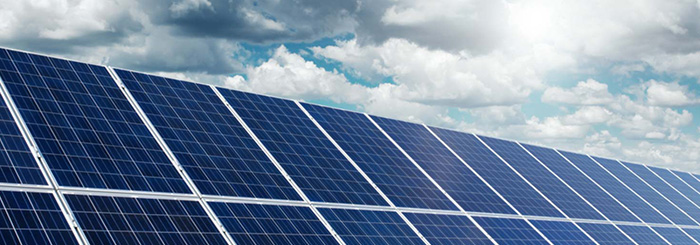 Solar panels for clean tech and energy financing