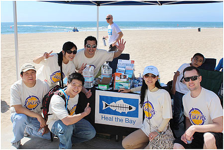 "East West Bank Volunteers ""Go Green"" with Los Angeles Lakers - Heal the Bay"