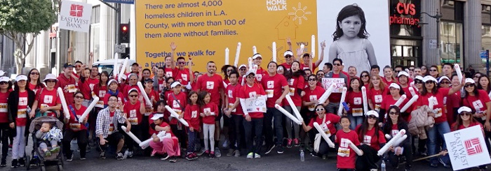 East West Bank team at the Los Angeles HomeWalk
