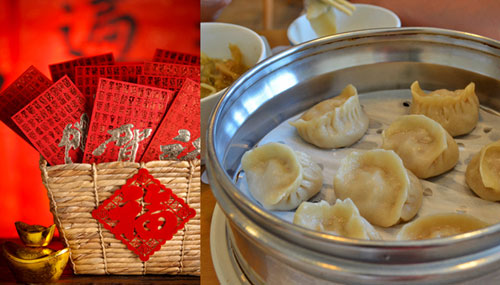 Clarissa wei on the luckiest foods to eat for chinese new year chinese dumplings chinese new year food that symbolizes wealth next to a basket filled forumfinder Choice Image